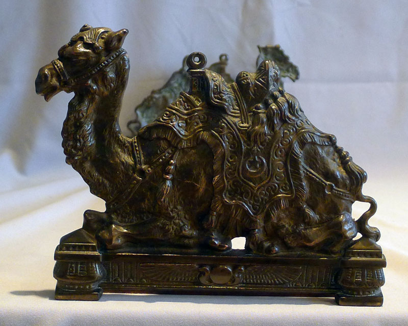 Antique pair English bookends in the shape of a camel.