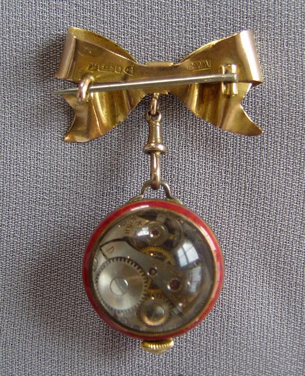 1c74d3afe Ladies gold and guilloche enamel brooch watch by Bucherer. - Gavin ...