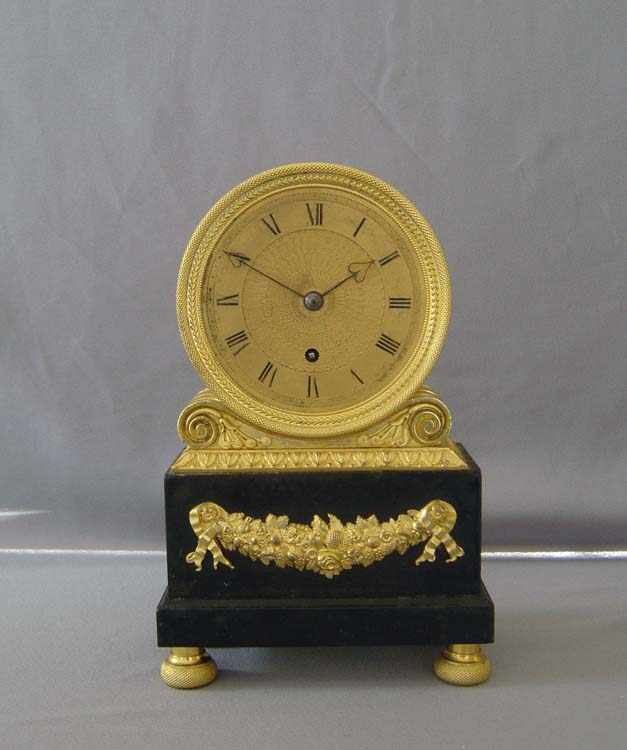 English regency mantel clock