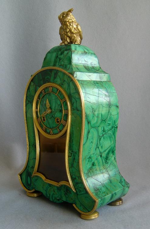 Antique Russian Mantel Clock Veneered In Siberian